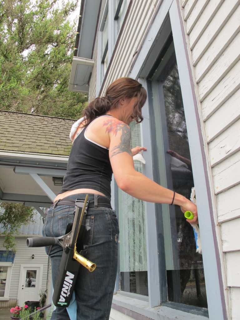 window cleaning, miranda teel, pilchuck, la conner