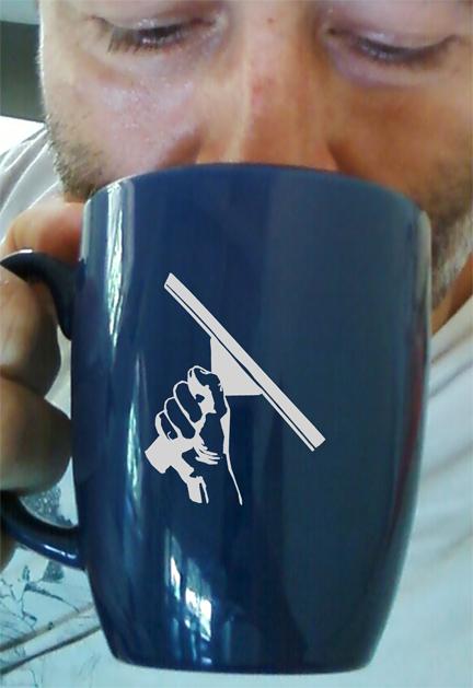 Squeegeelution, Coffee Mug, Window Cleaning, Window Washing, Squeegee, Ojai Window Cleaning, Ojai, CA,